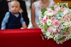 Svatební kytka s polštářkem